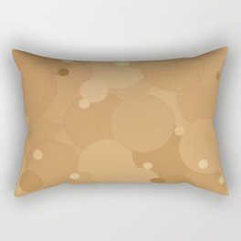 Desert Mist Bubble Dot Color Accent Rectangular Pillow