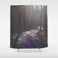 road Shower Curtains featuring Road by Alyson Cornman Photography