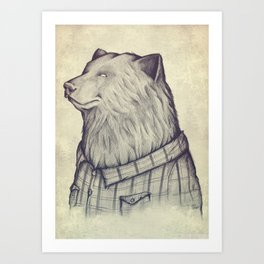 The Wild Lumberjack Art Print