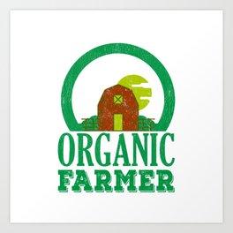 Earth Day 2019 Organic Farmer Regional Vegetable Fruit Art Print