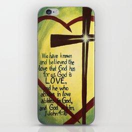 God Is Love Cross iPhone Skin