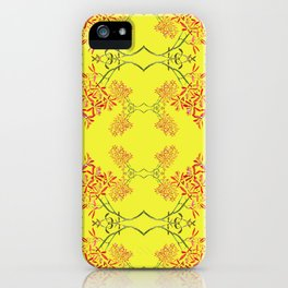 Orchids on Yellow iPhone Case