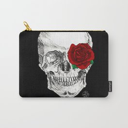 Rose Skull Black Carry-All Pouch