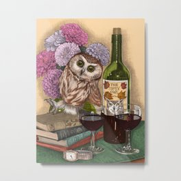 The Tipsy Owl Metal Print