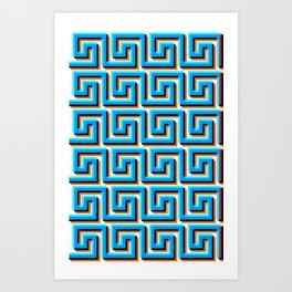 Pixel Wave no.2 Art Print
