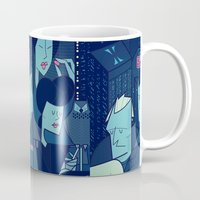 blade runner Mugs featuring Blade Runner by Ale Giorgini