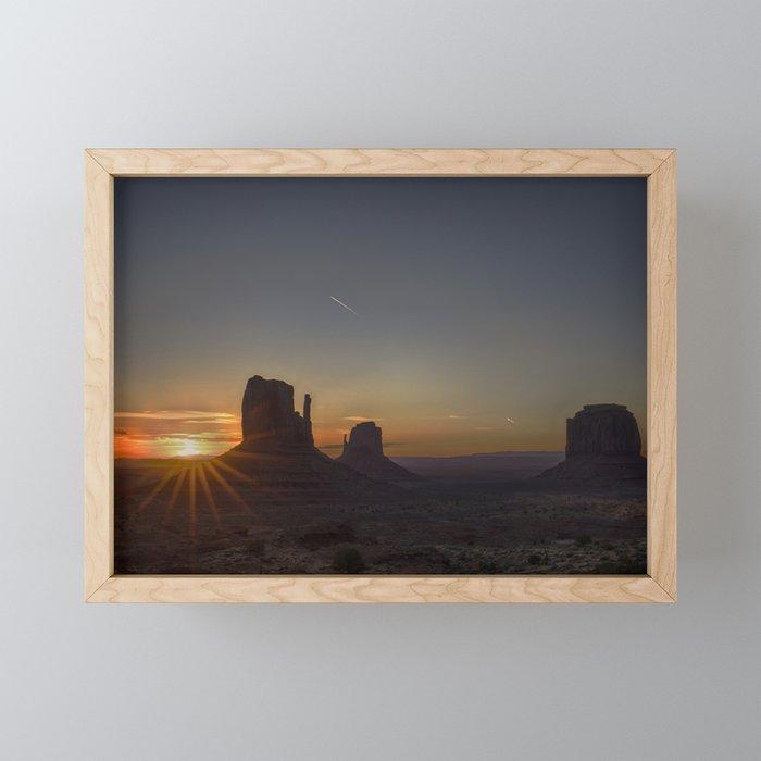 Sunrise at the Monument Framed Mini Art Print