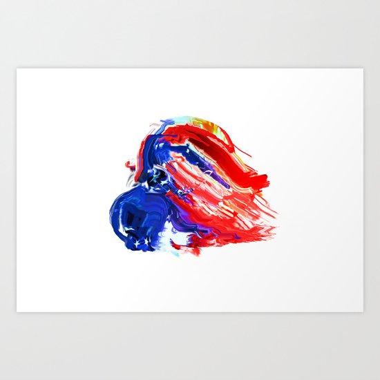 American Flag Study No. 8 Art Print