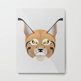 Eurasian lynx portrait Metal Print