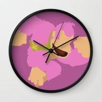 donkey kong Wall Clocks featuring Donkey Kong(Smash)Pink by ejgomez