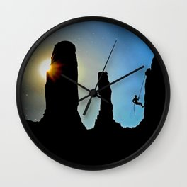 Rock Climbing Mountaineer Wall Clock