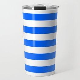 China Blue and White Medium Stripes Travel Mug