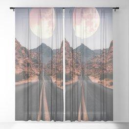 Mooned Sheer Curtain