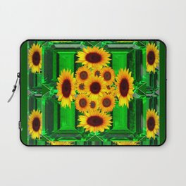 SPRING GREEN YELLOW FLOWERS  ART DECORATIVE  DESIGN Laptop Sleeve
