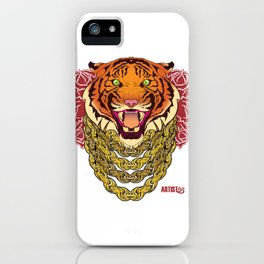 Gold Tiger iPhone Case