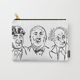 Stooges Moe, Curly and Larry Carry-All Pouch