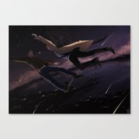 destiel Canvas Prints featuring Supernatural - Destiel by arttano