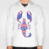 patriotic Hoodies featuring Patriotic Scorpion by Cat Coquillette