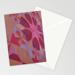 Hand-Sewn Rubies Stationery Cards