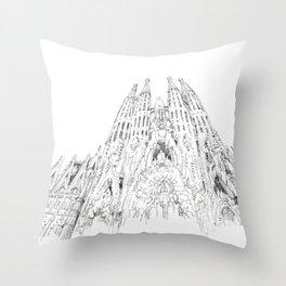 Bcn 4 Throw Pillow