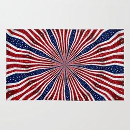 American Flag Kaleidoscope Abstract 1 Rug