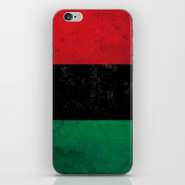 Distressed Afro-American / Pan-African / UNIA flag iPhone Skin