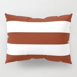 Kenyan copper - solid color - white stripes pattern Pillow Sham