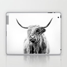 portrait of a highland cow (horizontal by request) Laptop & iPad Skin