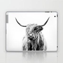 portrait of a highland cow (horizontal) Laptop & iPad Skin