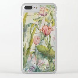 Tangled Garden Clear iPhone Case