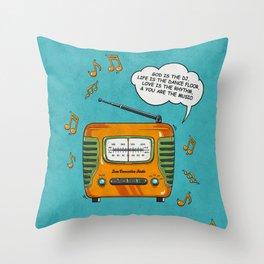 God Is The DJ Throw Pillow