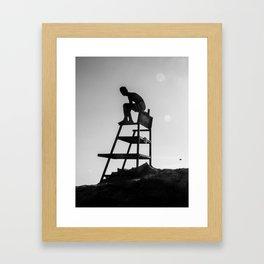 Beach Life - Lifeguard Framed Art Print