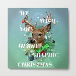 Merry Graphic christmas Metal Print