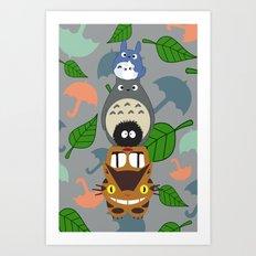 Troll Totem -  3' x 5' Art Print