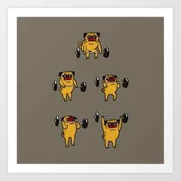 Pug Clean and Jerks Art Print