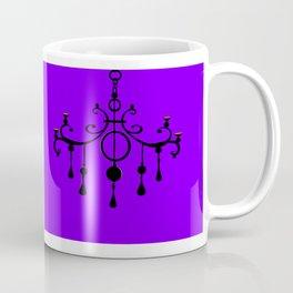 A Chandler with a Purple Background Coffee Mug