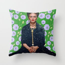 Flowers Frida Kahlo VI Throw Pillow
