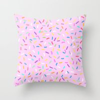 donut Throw Pillows featuring Donut  by Alexandra Aguilar