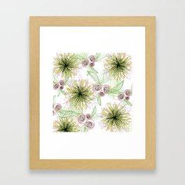 Zipper Blooms + Buds Framed Art Print