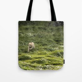 Happiness is Running Through a Field of Grass Tote Bag