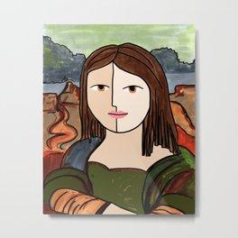 Mona Lisa Revisited Metal Print