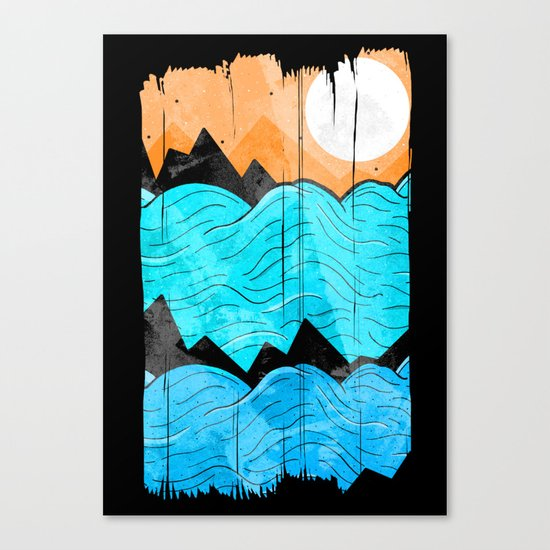 The Sea Waves Canvas Print