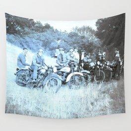 1941 Vintage Motorcycle Series Wall Tapestry