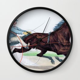 Louis Maurer -The grand young trotting stallion Axtell - Digital Remastered Edition Wall Clock