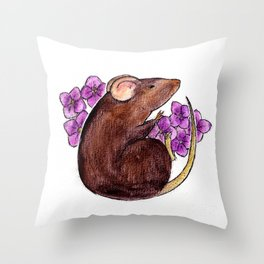 Chinese zodiac: Rat Throw Pillow