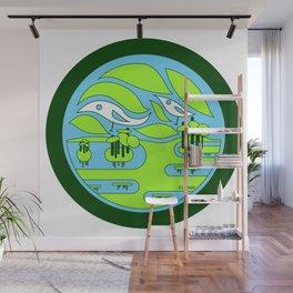 birdland wetland ecopop Wall Mural