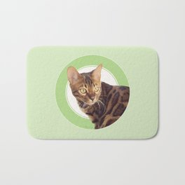 Boris the cat - Boris le chat Bath Mat