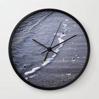 salt water Wall Clocks featuring Salt water by Emelie Johansson