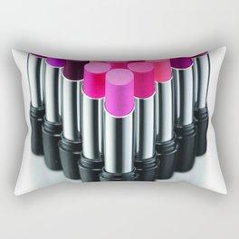 Beauty Boss Lipstick Cosmetics Makeup Rectangular Pillow