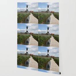 Fire Island Light With Reflection - Long Island Wallpaper